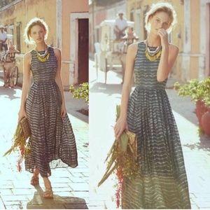 NEUW Anthropologie Shibori Maxi Dress XS